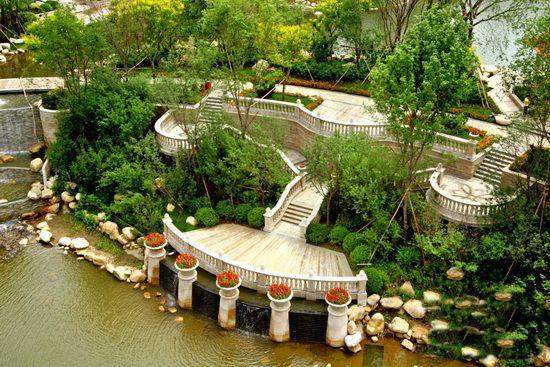 恒大名都50000㎡欧式皇家园林,6000㎡中央御湖与东昌湖,徒骇河,古