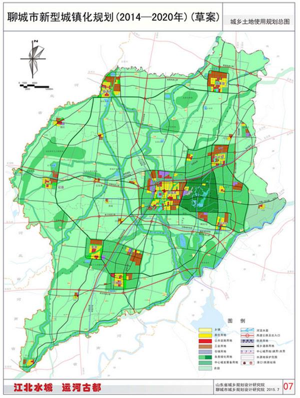 聊城旅游景点地图