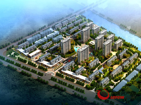 盛唐·金水湾项目鸟瞰图